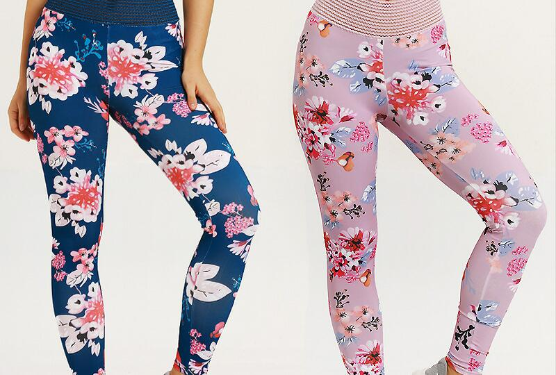 2019 hot new print high waist moisture wicking yoga pants tight fitness sports leggings J0263
