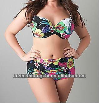 d642f8750a064 free shipping free sample plus size XL XXL XXXL XXXL size bikini swimwear  swimsuit