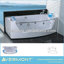 2012 New Design Massage Bathtub With LED Air Bubble