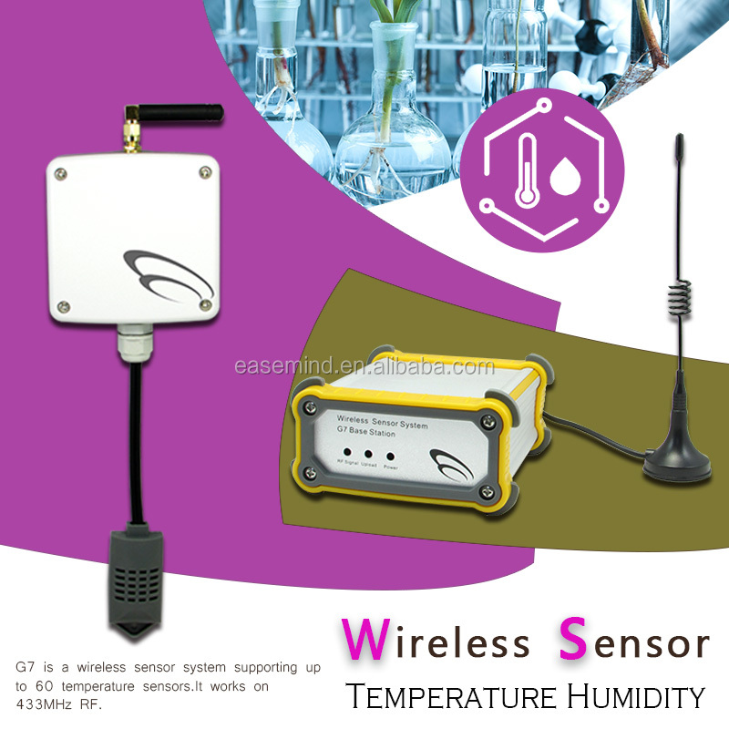 real time <strong>temperature</strong> & humidity monitoring system wireless combo sensor for laboratory