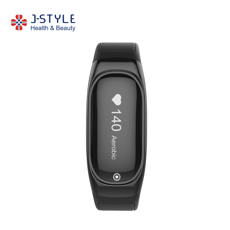 2018 Promotional J-Style HR Sport bracelet Fitness Activity Tracker with Heart Rate Monitor Pedometer