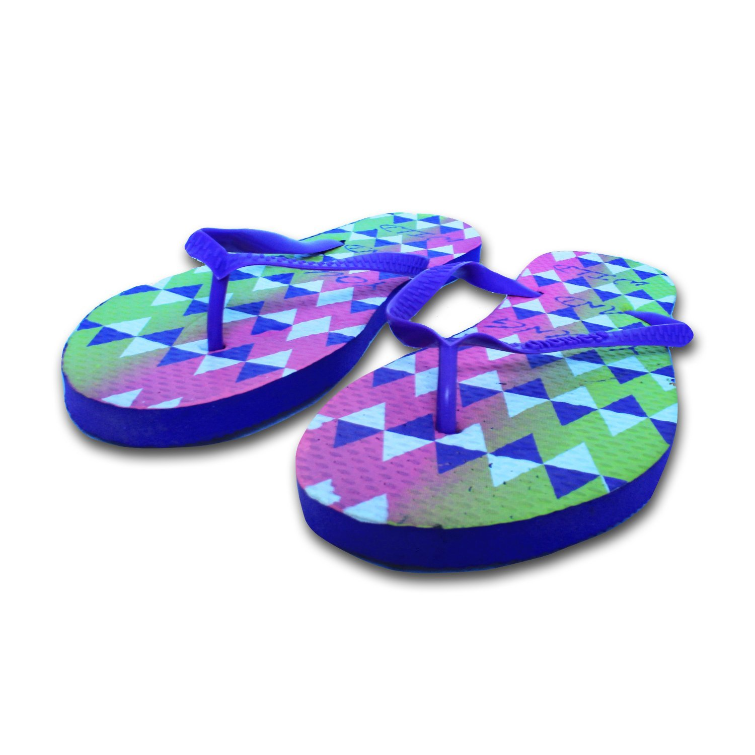 6d8ae949fed546 Get Quotations · Chatties Women s Casual Purple Rubber Flip Flops Slippers