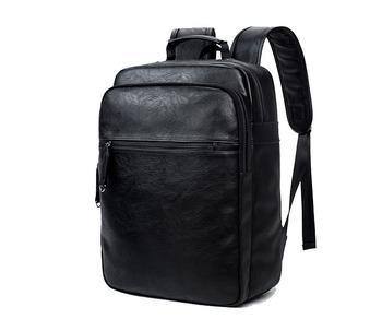 b13a0705c8c2 2018 стильный путешествия черный PU кожаный рюкзак для ноутбука, мода кожа  школы повседневный рюкзак для