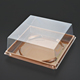 New design PET PP PS PVC silver golden white black clear plastic cake packaging box