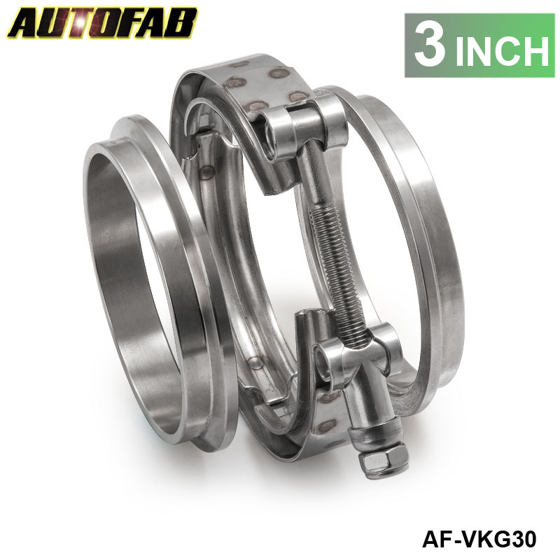 Universal Upgraded Auto Parts Turbo Exhaust pipes 3 inch V Band Clamp ...