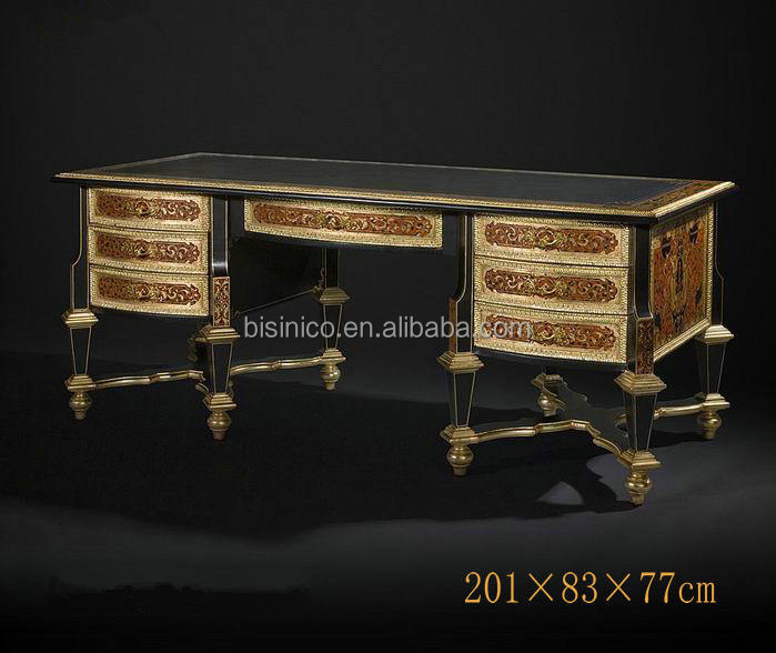 Luxury imperial wood carved executive office furniture