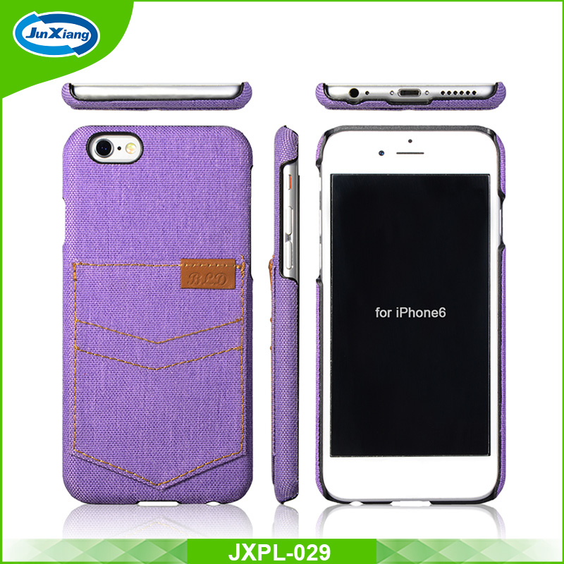 Lastest Leather PU Cowboy with card slot soft case for iPhone 6