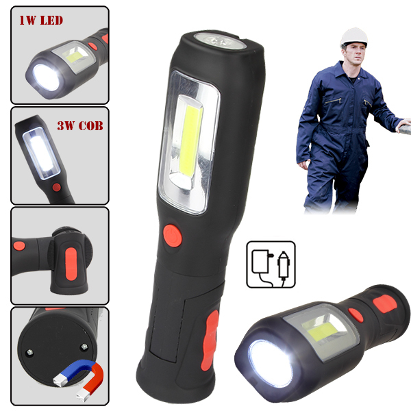 30 Led Rechargeable Inspection Lamp Light Torch Cordless: Automotive Outdoor COB LED Rechargeable Inspection Lamp