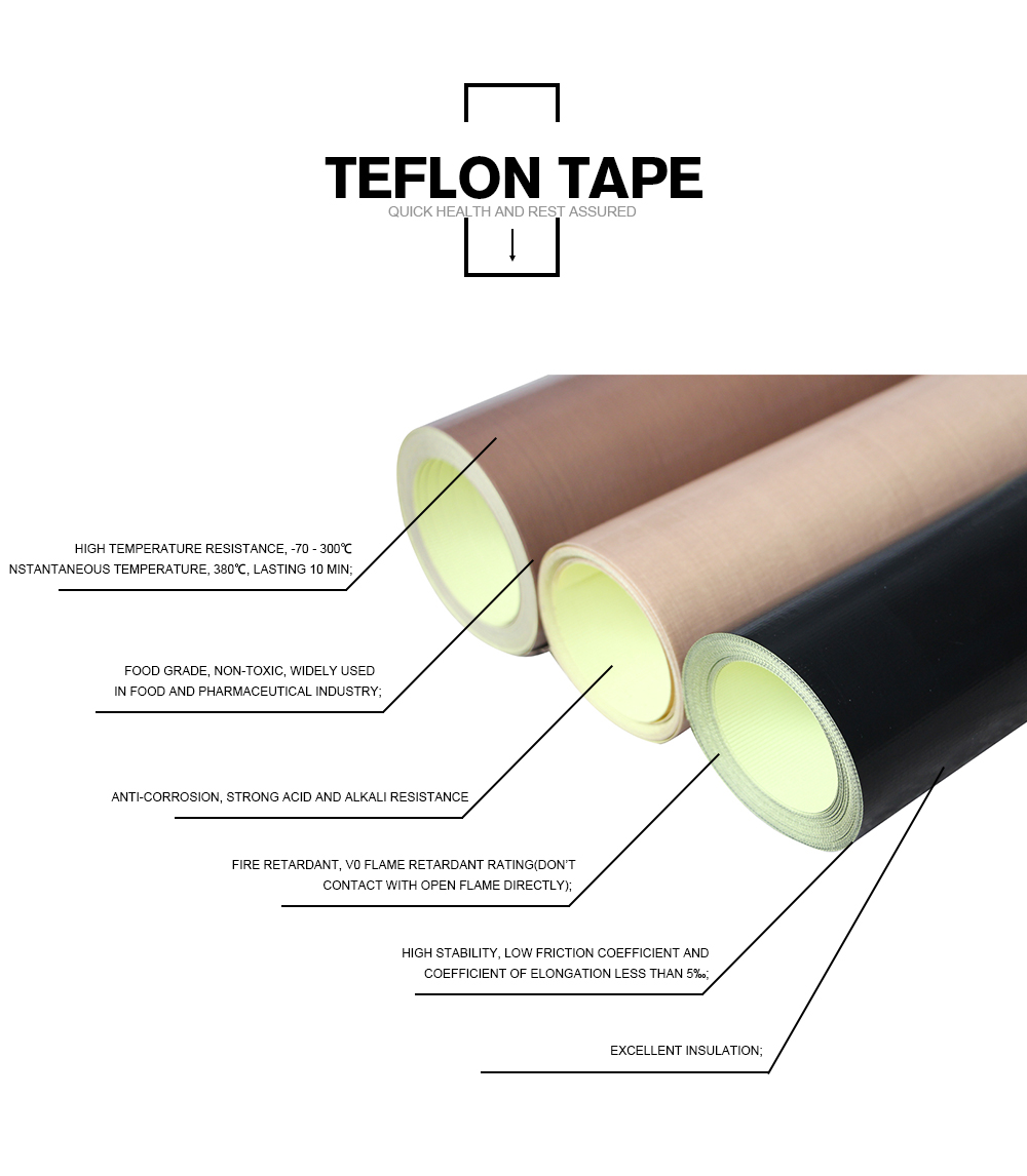 Factory Price Non-Stick High Temperature PTFE Seal Adhesive Tape
