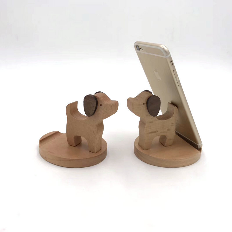 Special Design Monkey Modeling Smart Phone Holder Wooden Stand Suit  For Each Type Of Cell Phone