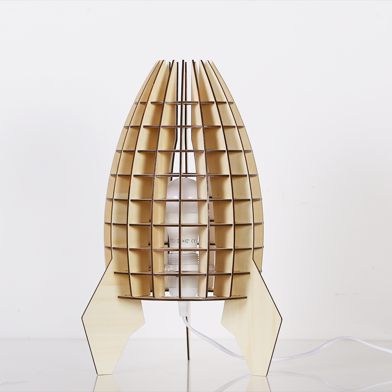 Unique The rockets Wooden Table lamp