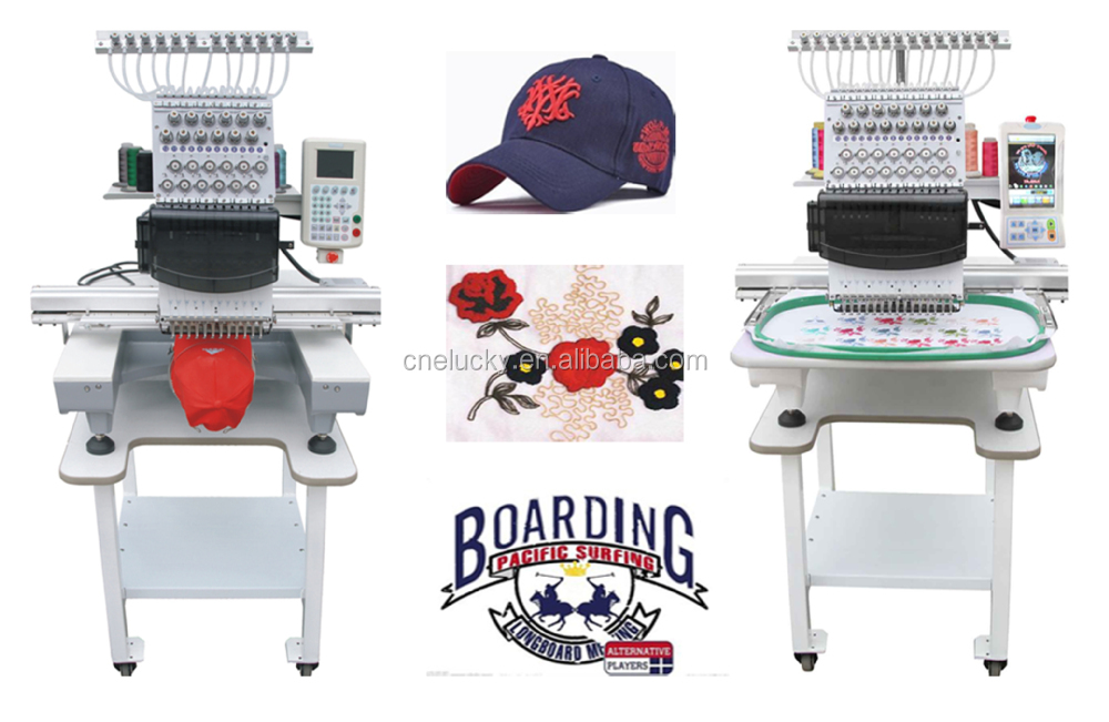 Commercial used china embroidery machine for hat flat t
