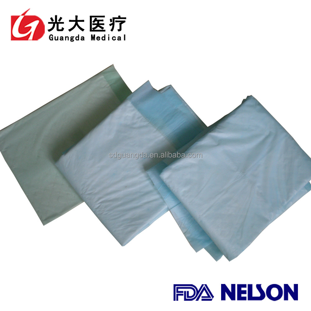 disposable medical tissue paper underpad with fluff pulp