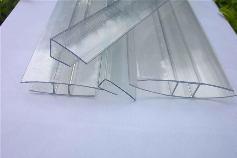 6000mm Length Polycarbonate Sheet Connector H Profile Between 6mm ...