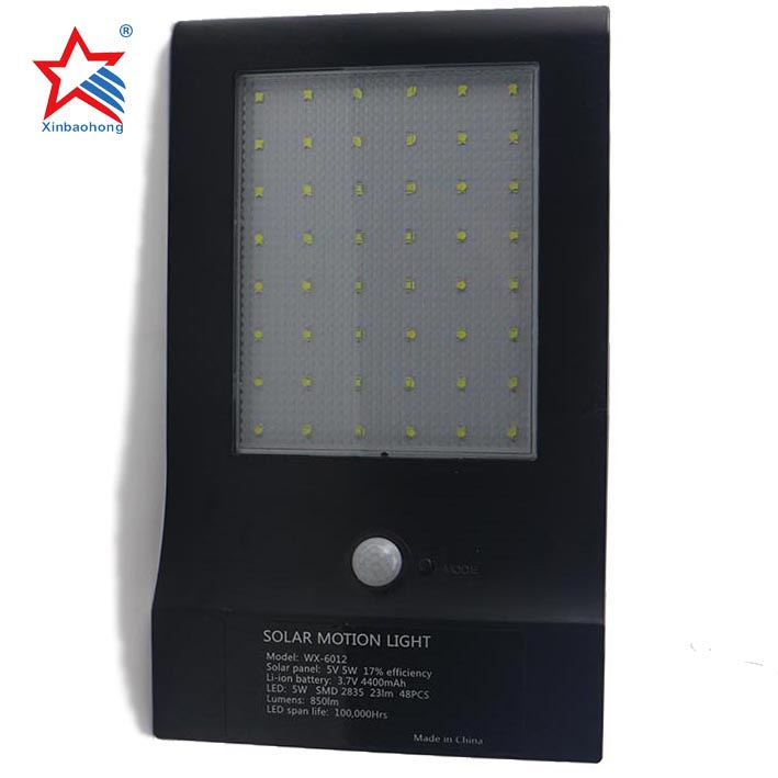 ABS Magic Black 48LED Bright Solar Powered Garden Security Lights For outdoor