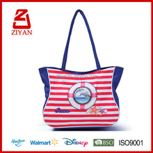 Hot selling wholesale womens fashion custom printed beach bag ,handbags