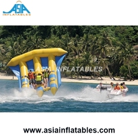 Hot selling inflatable banana boat flying fish towable flying Inflatable water sports