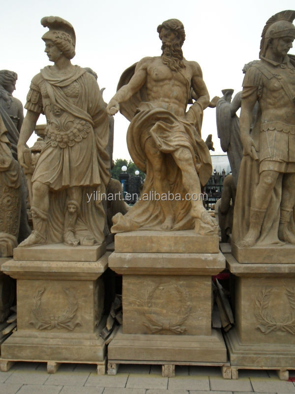 Antique Stone Life Size Roman Soldier Statues For Sale Yl