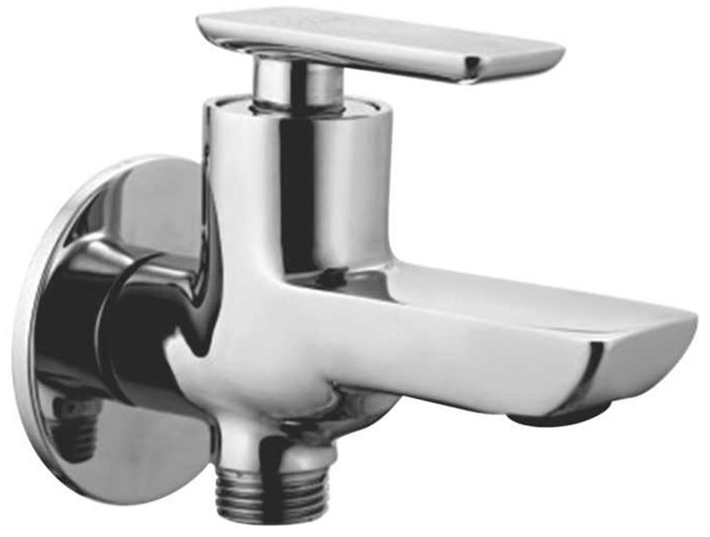 Oleanna Brass Golf Single Lever 2 In 1 Bib Cock With Wall Flange G-06