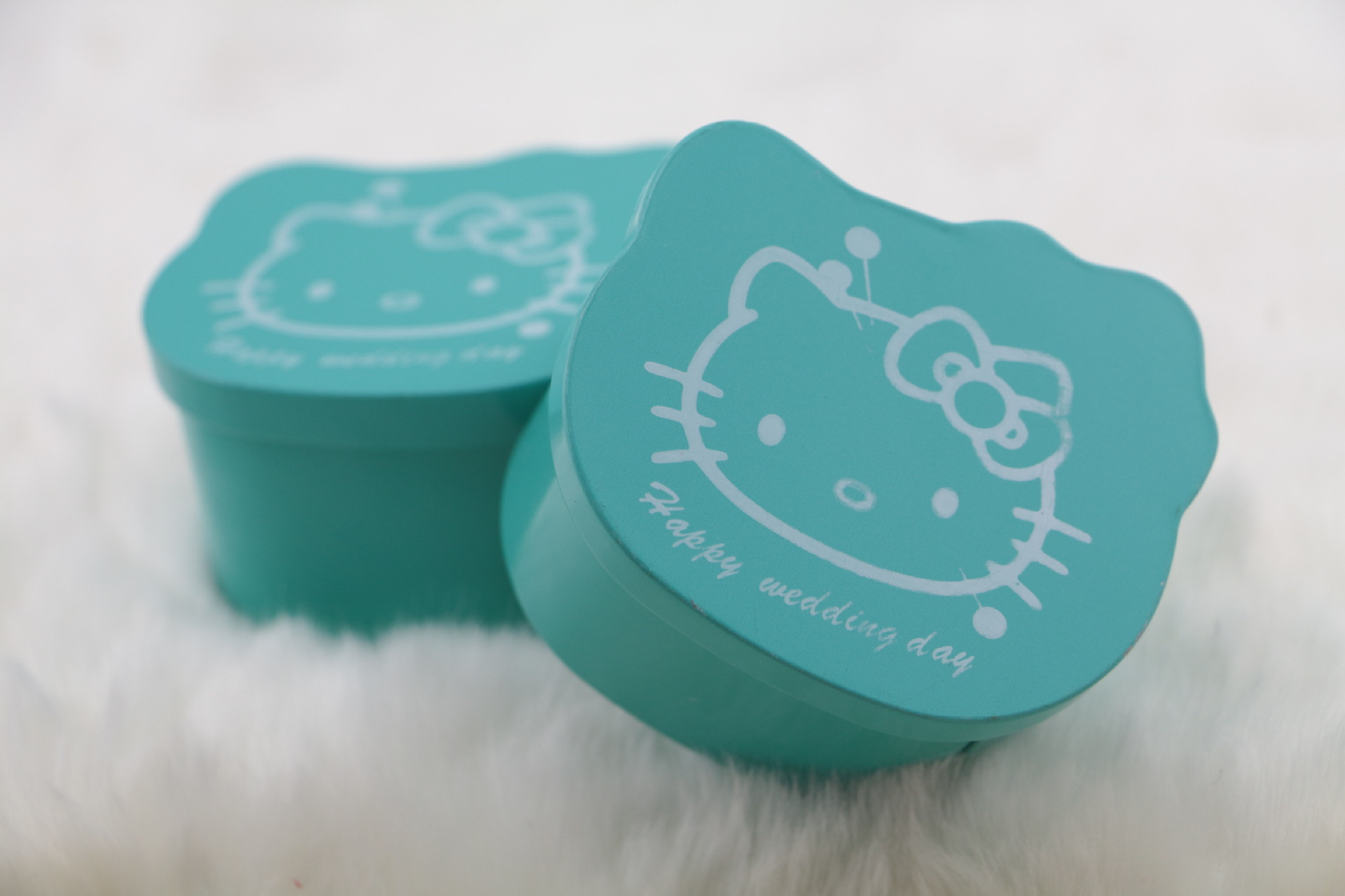 Cat shape metal tin box candy gift cake tin boxes  with lid