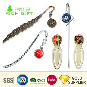 Unique design custom chinese style metal 3d enamel souvenir bookmark with competitive price