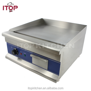 With CE electric teppanyaki griddle with lid