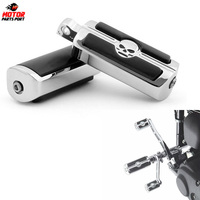 Motorcycle Accessories Skull Rubber foot peg Heel Rest For Harley Davidson