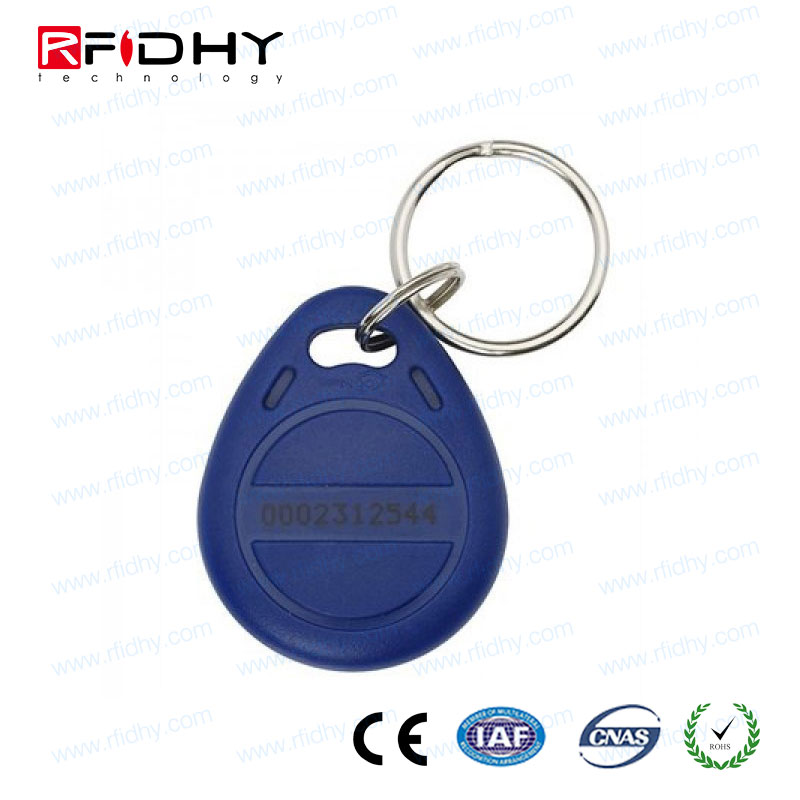 Highly-Visible Custom Imprinted 13.56mhz abs rfid keyfob for transportation payment