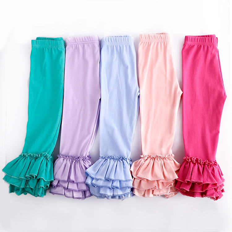 Fashion Mermaid Leggings Fall Boutique Baby Clothing Baby Icing Ruffle Pants hot sale