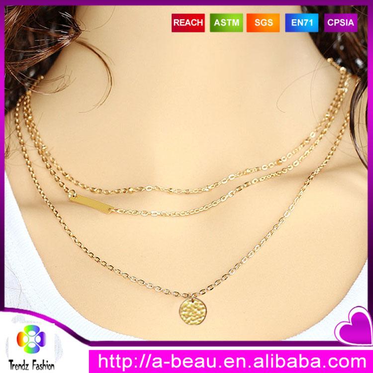 222a08f4285 Comprar a granel de China traje aleación geométrica collar de oro cadena
