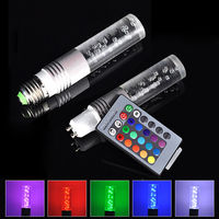E27 3w Rgb Led Bulb Lamp Light 16 Color Change + Ir Remote Control ...