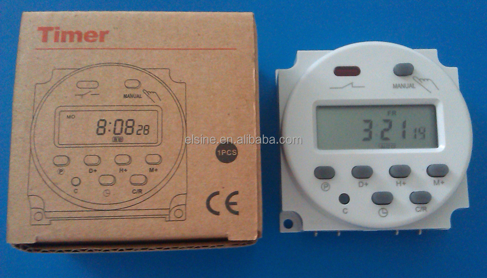 7 Days Programmable Digital Timer For Controlling Systems