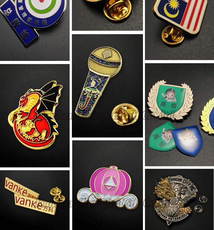 Fábrica de crachá personalizado dom lembrança esmalte de metal distintivo lapela pinos china presentes de natal