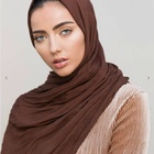 2019 new design hijabs high quality women shawls solid color scarf high quality 100% rayon wraps