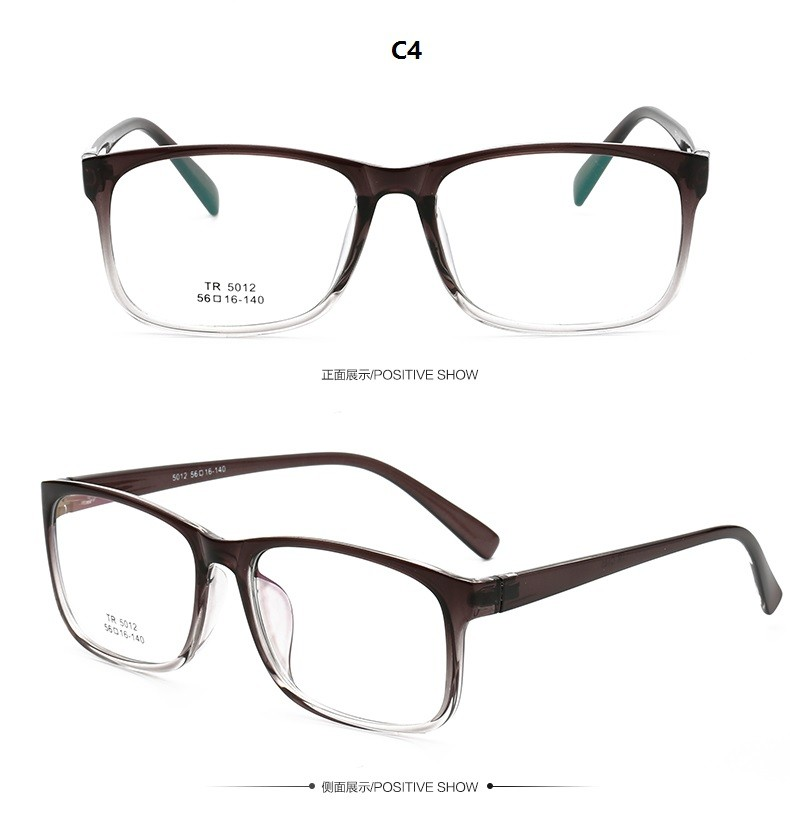 How To Read Eyeglass Frame Numbers : Vintage Tr90 Big Lens Glasses Frame Men Light Havana Color ...