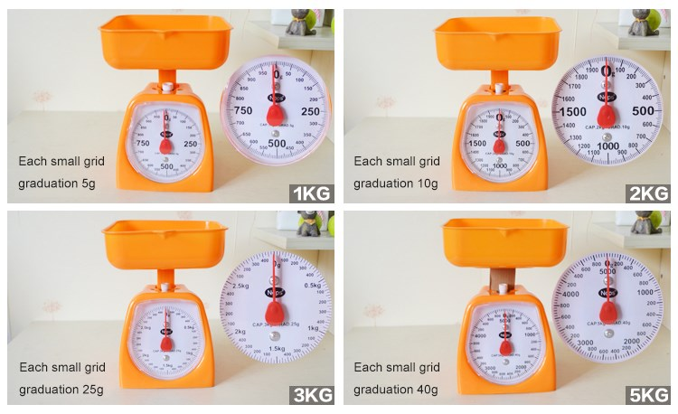 2020 Custom Household Mechanical Food Weighing Scale Weight Machine Kitchen Scale