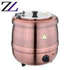 Kitchen equipments restaurant large commercial heating soup warmer rose gold base hot buffet stove cookware electric soup pot