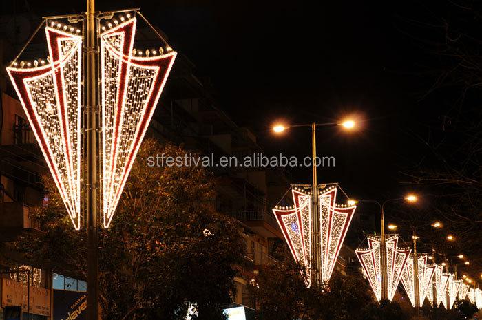 New Design 2015 Pole Mounted Motif Lights Christmas Decoration ...