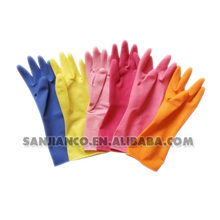 Unlined household cleansing Long Sleeve Disposable Latex Glove/ colored latex glove/top latex glove