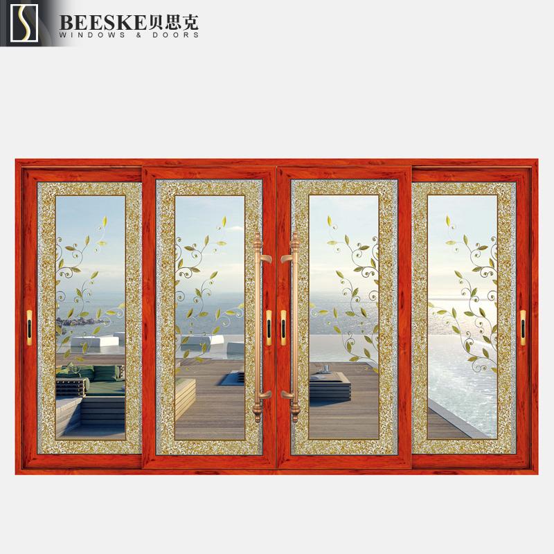 Venta al por mayor puerta de vidrio con marco de madera-Compre ...