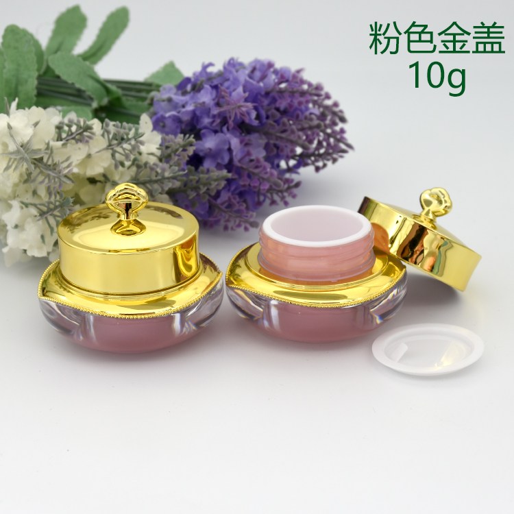 Elegant! luxury cosmetics 5 g acrylic jar crown gold lid containers