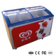 Convenience stores small ice cream chest display freezer