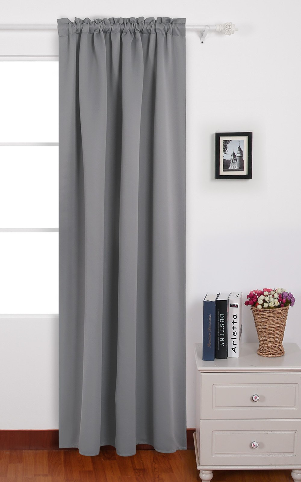 Get Quotations Deconovo Light Grey Blackout Curtains Rod Pocket Thermal Insulated For Dining Room 42 W