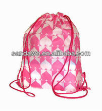 Non woven drawstring bag for shopping (D600128)