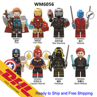 DHL free shipping 8pcs/set- New Marvel Aveng endgame mini Figure Thor Ironman Blocks toys for kids- Hot sale