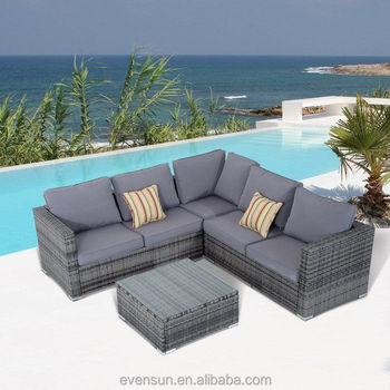 Poly Rattan Garden Furniture Outdoor L