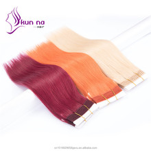 Popular color hair Bundles Orange / Purple / #613 virgin human hair bundles Cheap Brazilian hair Weft