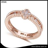 2017 high quality jewelry beautiful ladies women cubic zirconia wedding ring