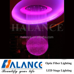 Party Decoration Event Optic Fiber Chandelier for residential decoration