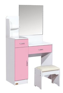Hot Sale Home Furniture Pink Color MDF Wooden Makeup Glass Cheap Used Bedroom Dressers For Sale